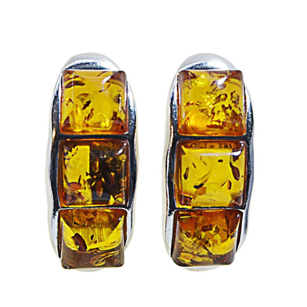 """Sterling Silver and Baltic Honey Amber Earrings """"Julie"""""""