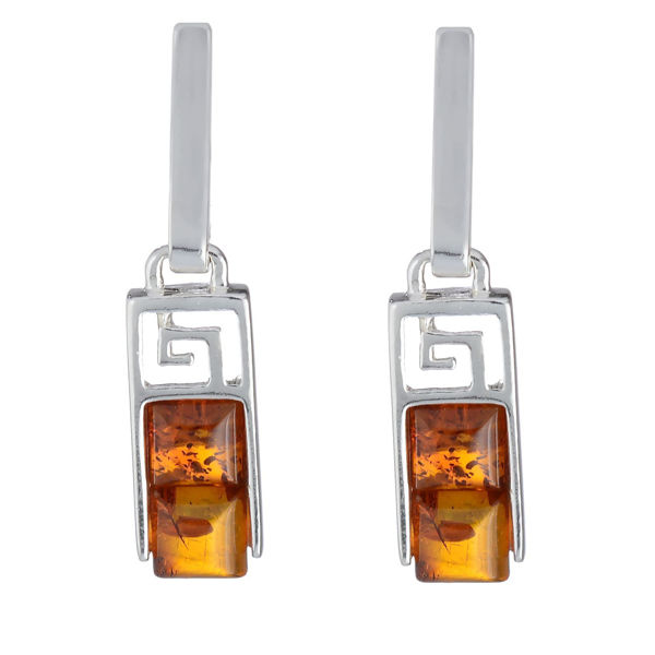 "Baltic Honey Amber Earrings ""Aretha"""
