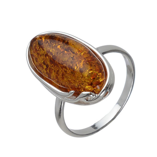 "Baltic Honey Oval Ring ""Alice"""