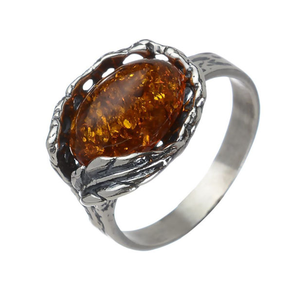 "Baltic Honey Amber Ring ""Katharina"""